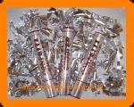 5x Konfetti Kanone Shooter - Edle Silber Folie Streifen